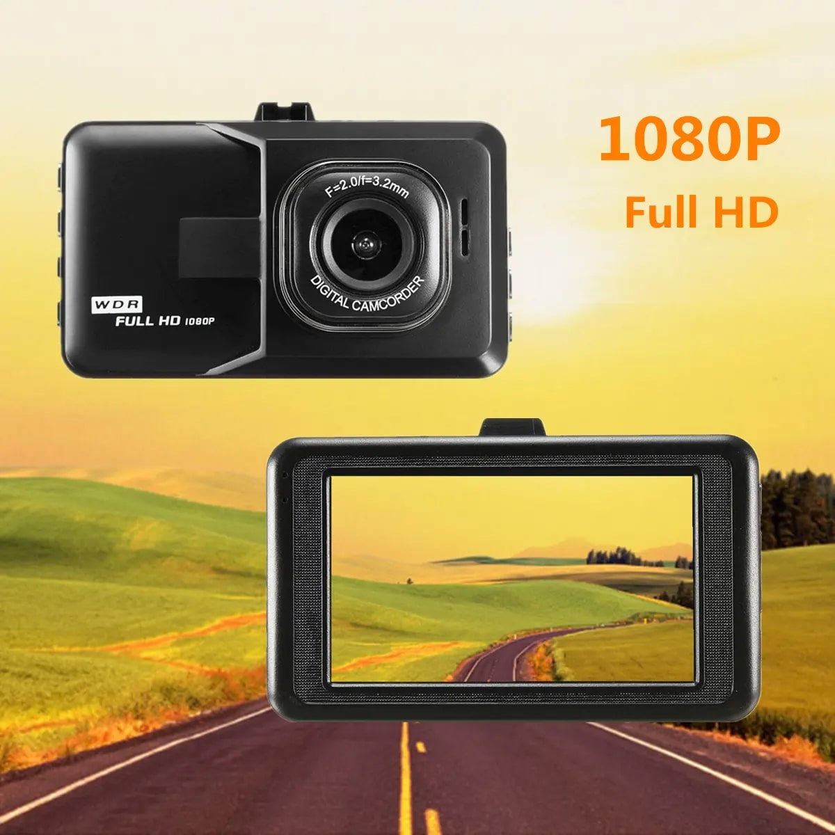 Vehicle Dash Cam Blackbox DVR with WDR - Full HD 1080 VISOR DVR with Exciting Features. NEW Products