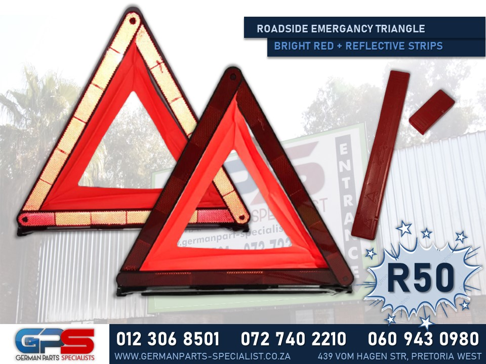 Red Roadside Emergency Triangles