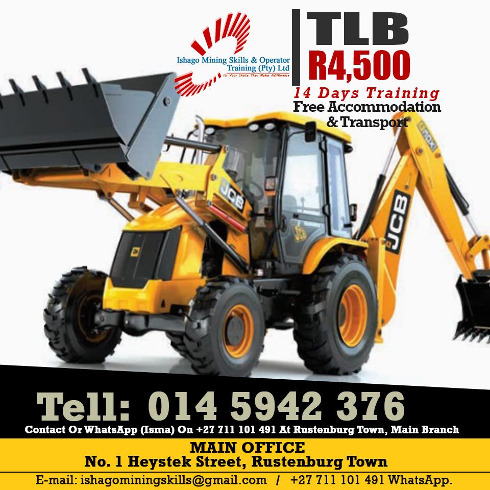 tlb training machine in  koster ,rustenburg 0835337366