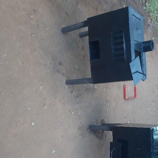 coal and wood steel stove