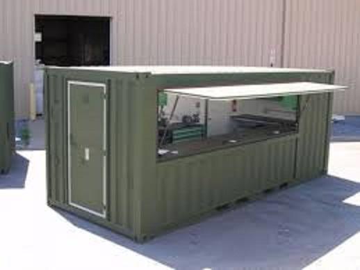 Steel container tuckshop