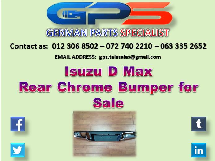 Isuzu D Max 2015 Rear Chrome Bumper for Sale
