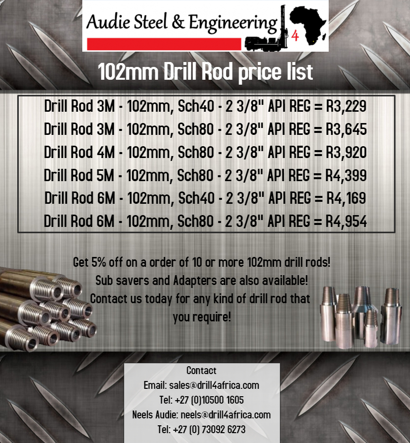 Drill Rods for sale!