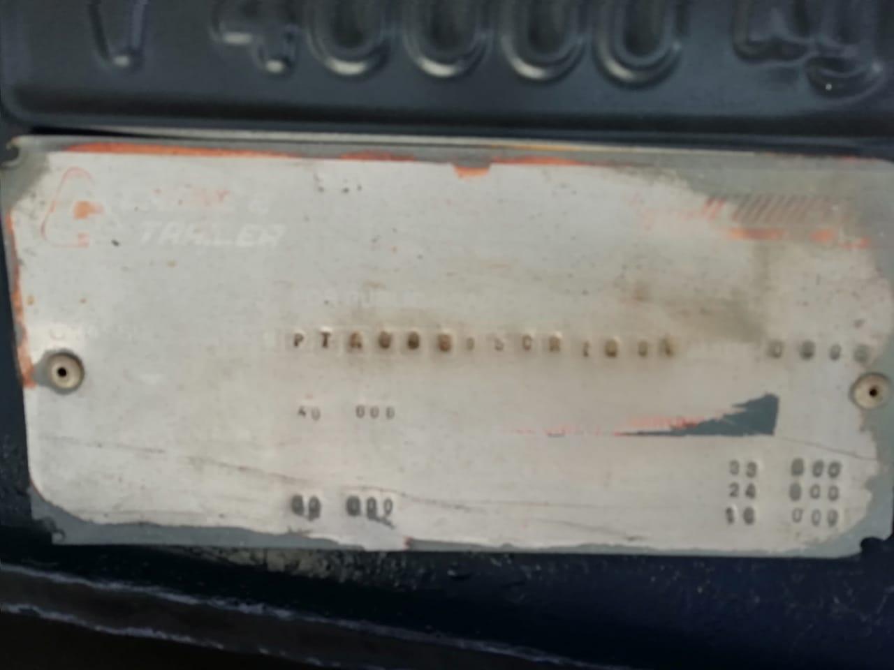 Used 1989 Zelna 12m Tri Axle Brick Trailer for sale