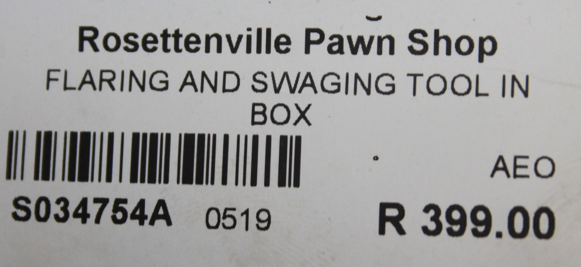S034754A Flaring and swaging tool in box #Rosettenvillepawnshop