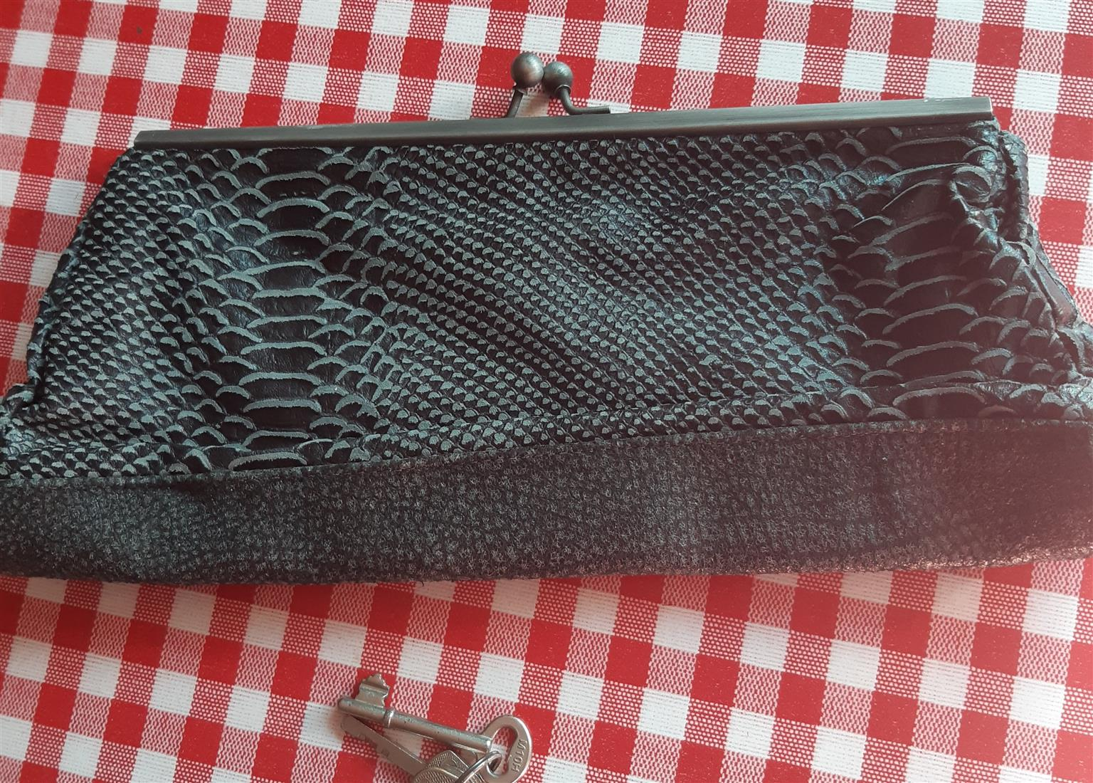 Vintage Clutch Bag by Designer Edith Pittier, Brazil