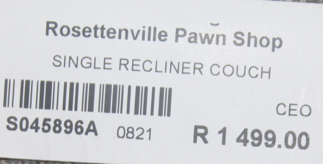 Single recliner chair S045896A #Rosettenvillepawnshop