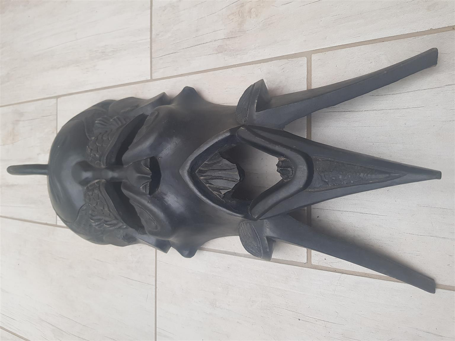 African Male & Female Wall Masks