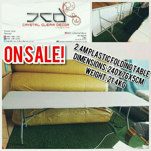 Rectangle Plastic Fold Up Tables 2.4m For Sale