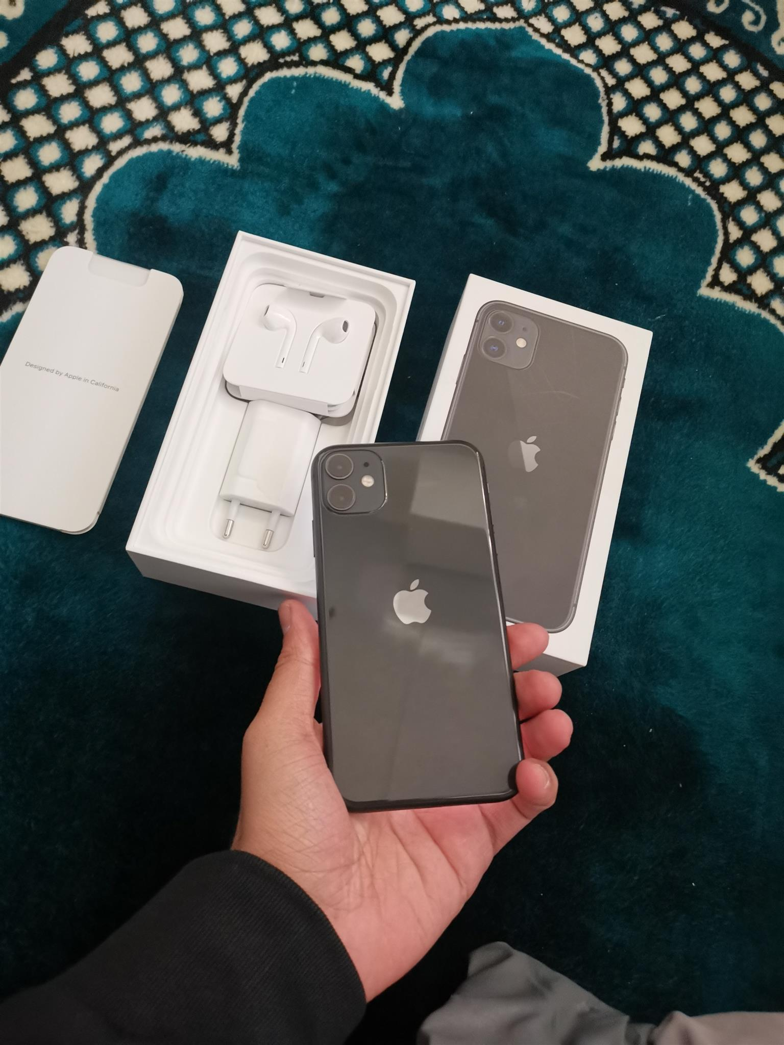 Apple iphone 11 128gb black phone is brand new in the box
