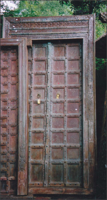 ANTIQUE INDIAN TEAK DOOR