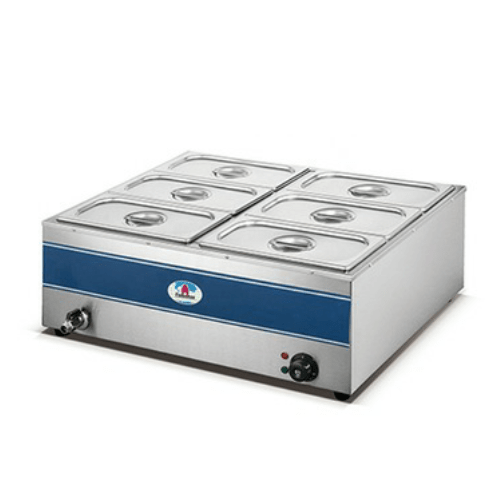HB1080 6 DIVISION BAIN MARIE WITH TAP