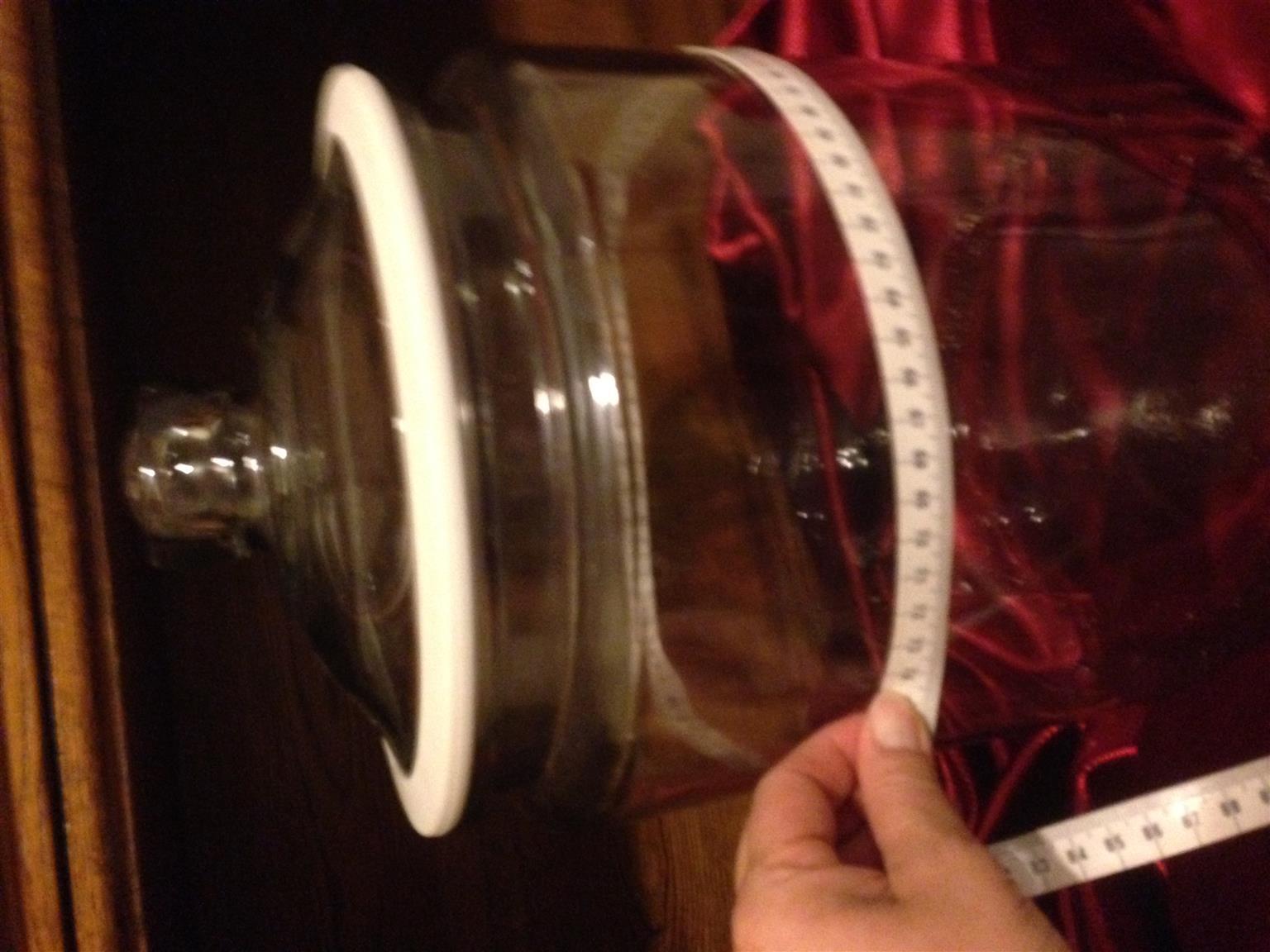 Glass Cookie Jar, Rose Bowl