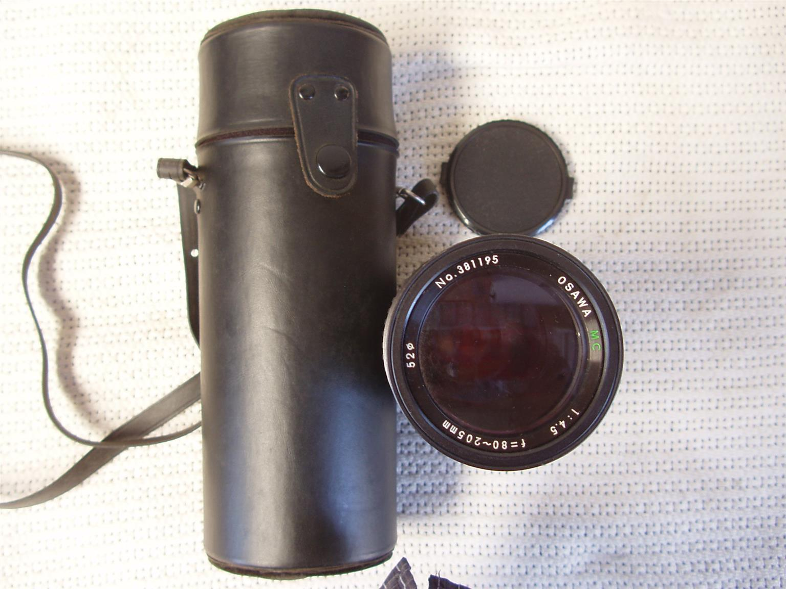 Osawa 80-205mm f/4.5 Camera Lens - in original carry Case