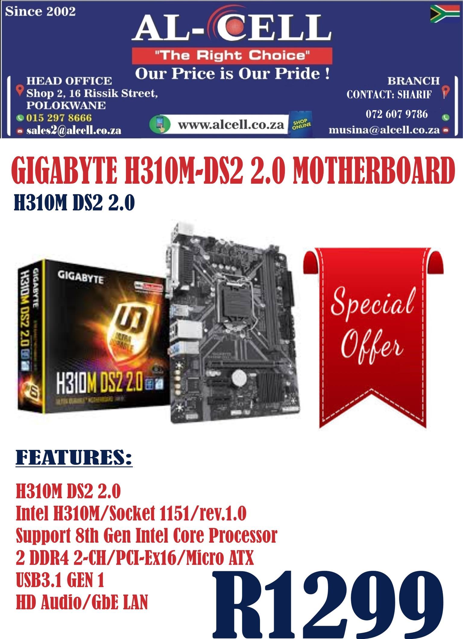 Gigabyte H310M-DS2 2.0 Motherboard