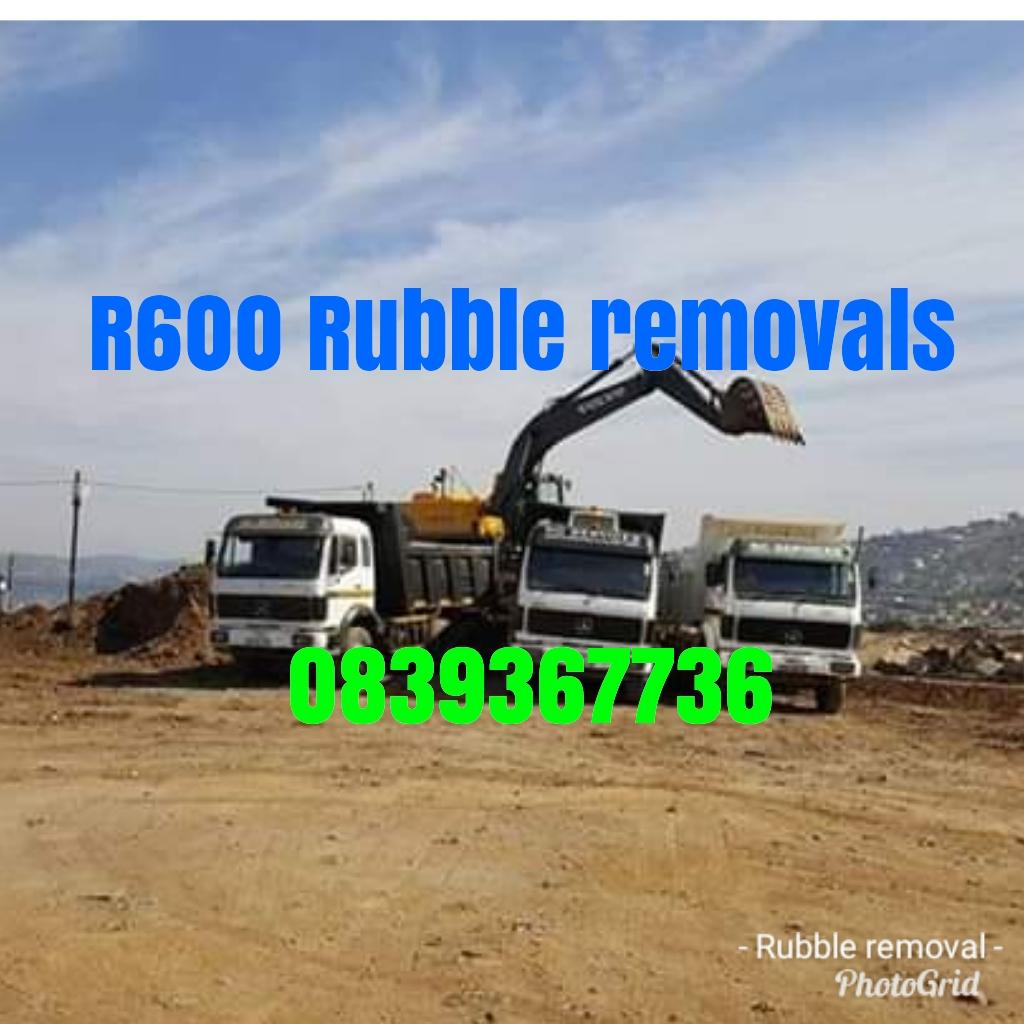 R600. Rubble removals