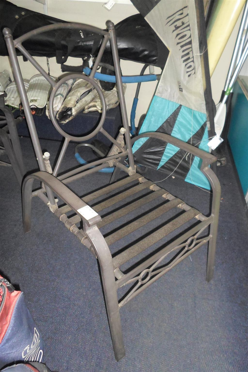 4x Patio Chairs Metal Frame - B033045566-1-4