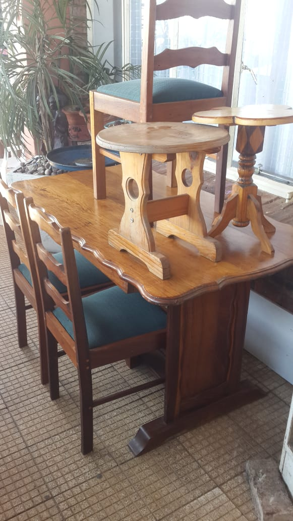 Dining room table with side tables