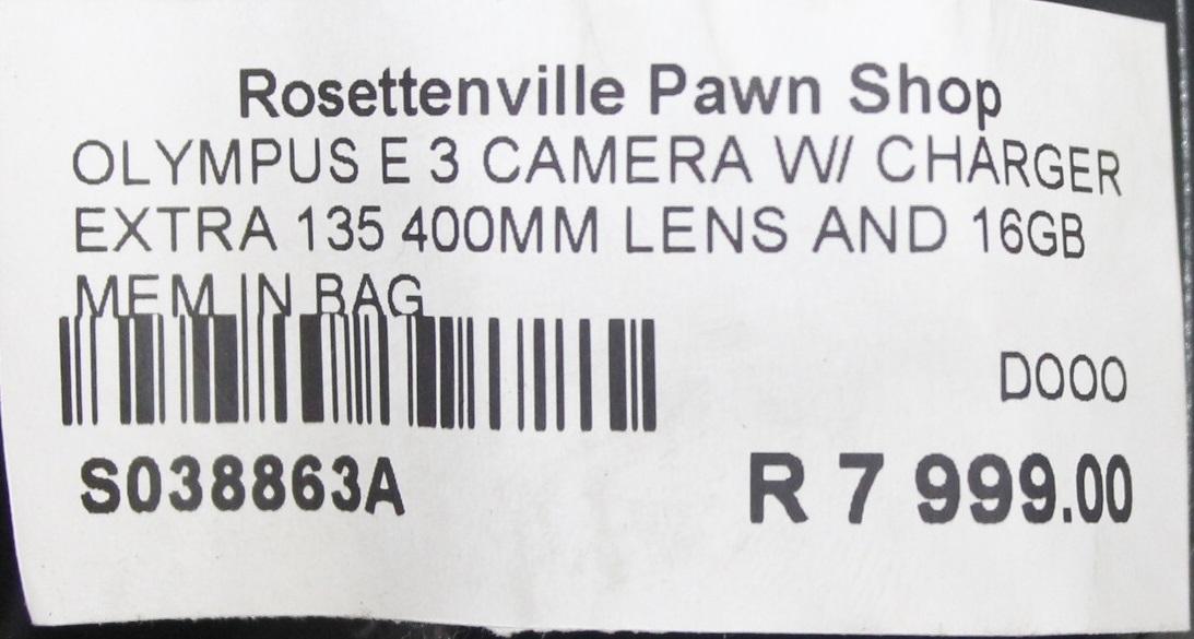 OLUMPUS E3 S038863A #Rosettenvillepawnshop