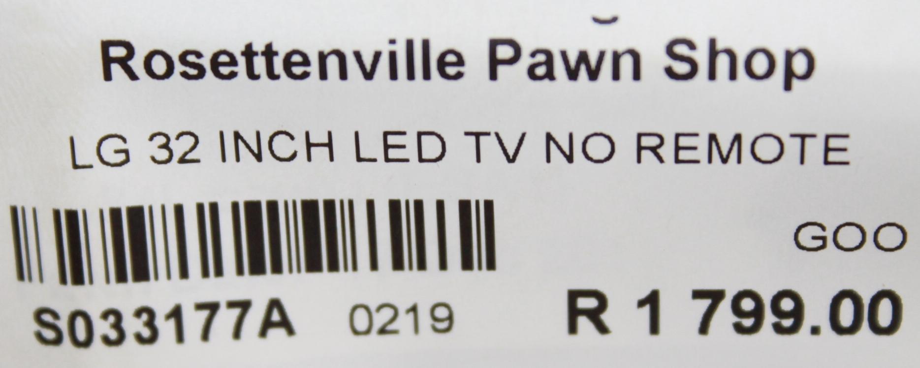 LG tv S033177a #Rosettenvillepawnshop