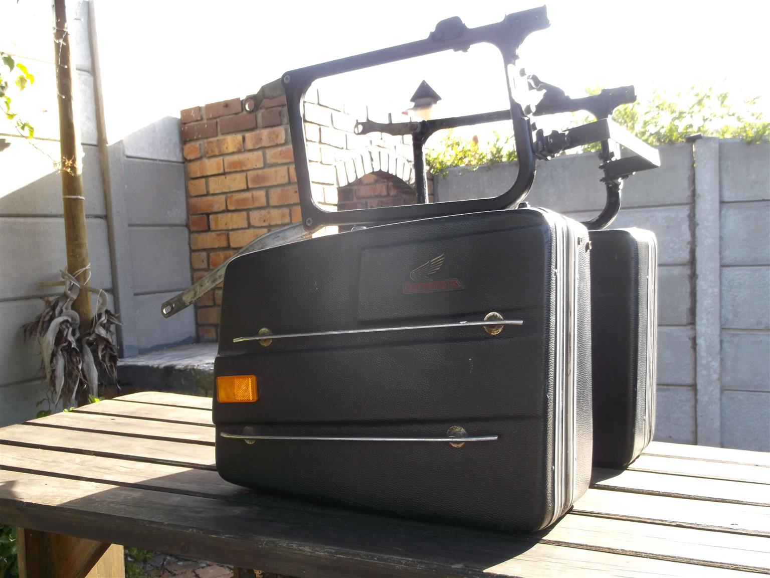 Top box and panniers for Honda GL1100 Goldwing