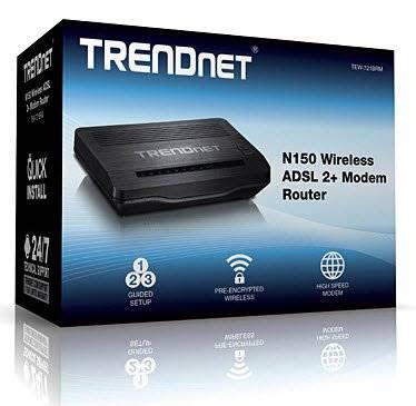 TRENDnet N150 WIRELESS N ADSL 2/2+ Modem Router