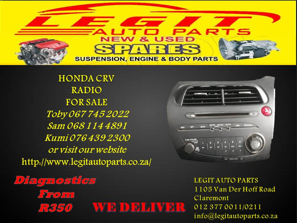 HONDA CRV  RADIO FOR SALE