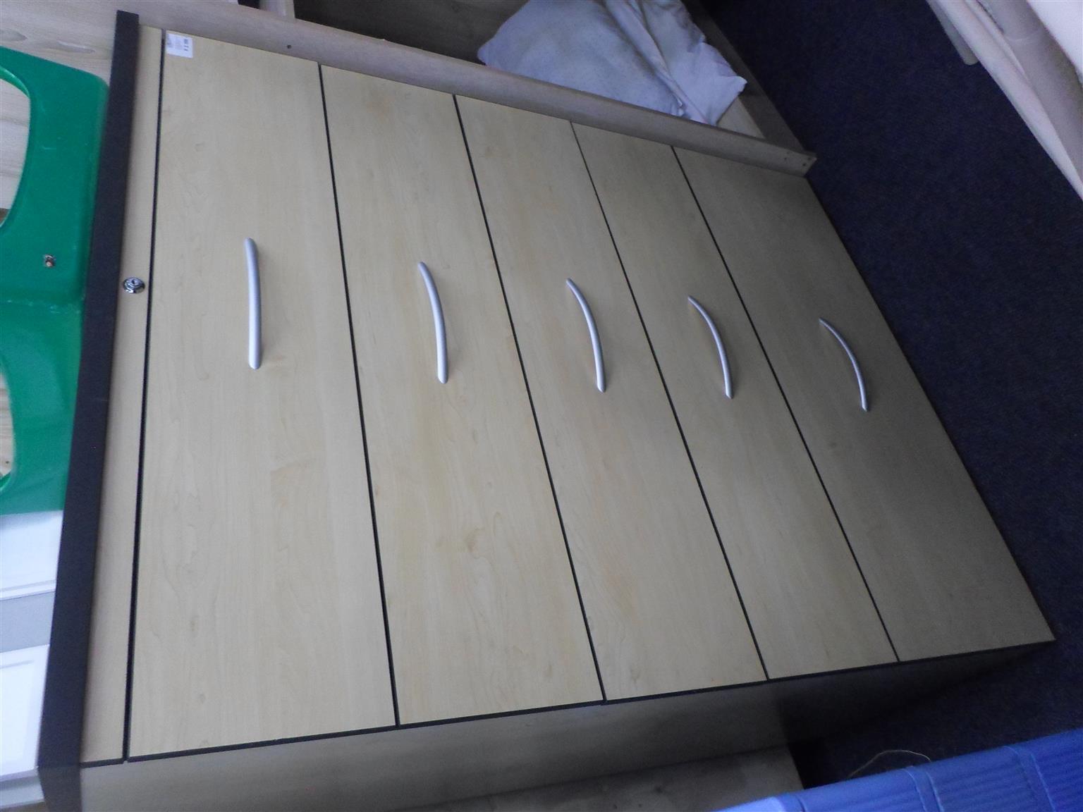 5 Drawer Wooden Filing Cabinet