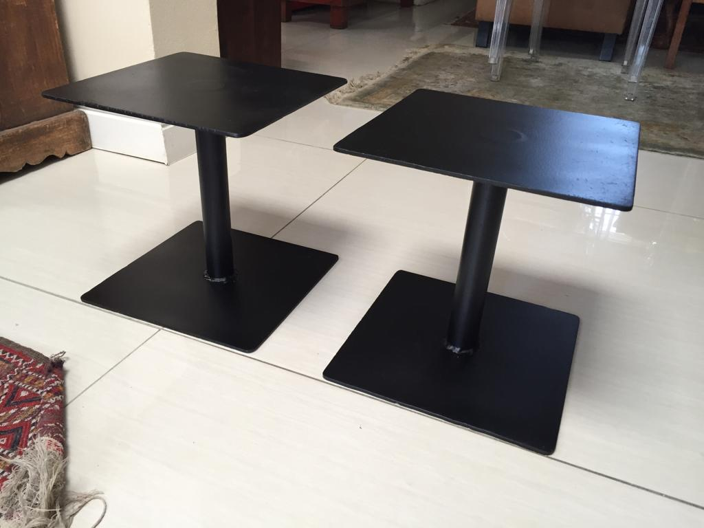 Metal Speaker Stands on Spikes in Satin black finish - for medium to large  cabinets