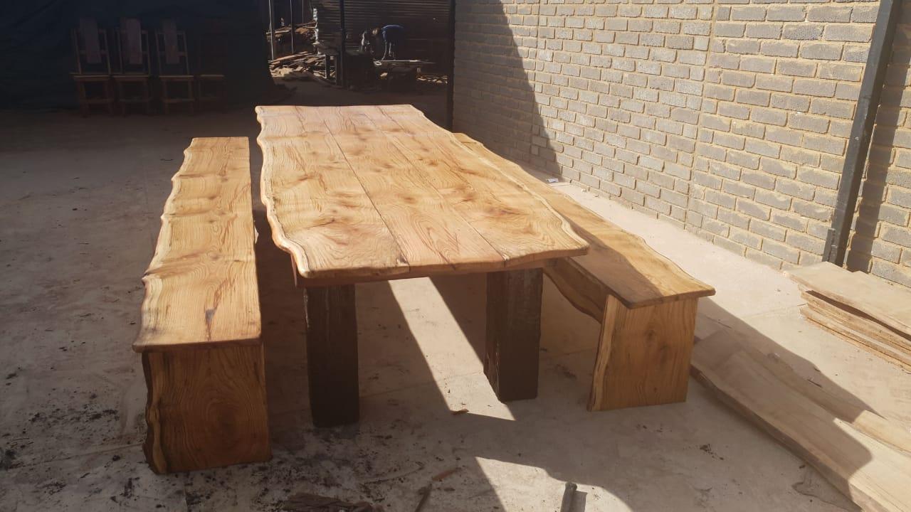 4m bankies stel  - sleeper hout