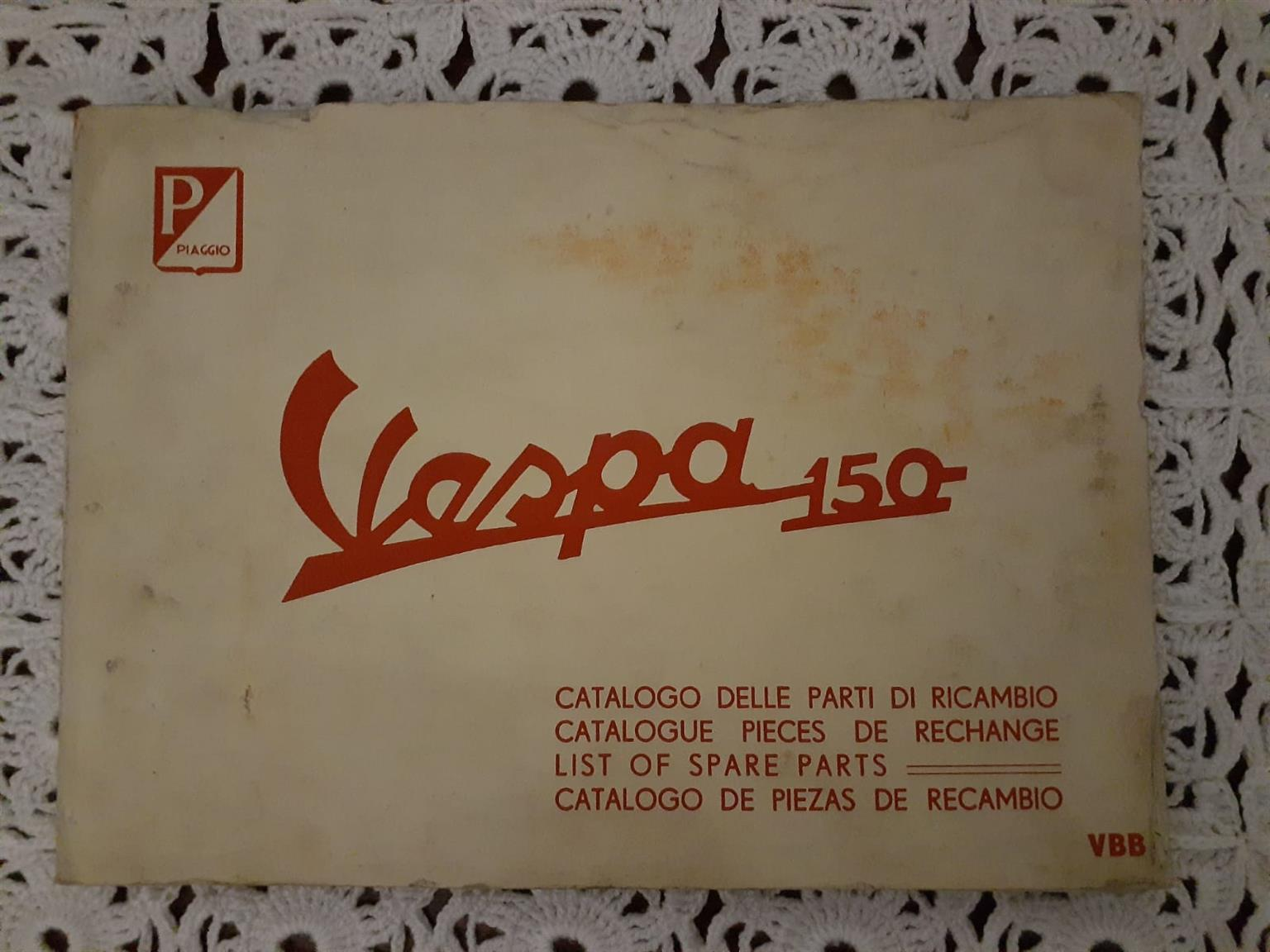 Vespa 150 Parts Manual