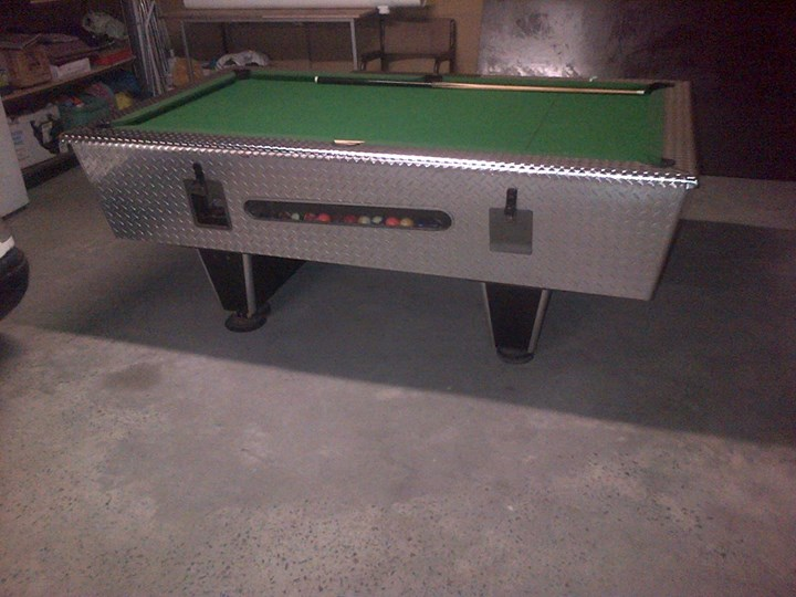 R5 coin operated pool table