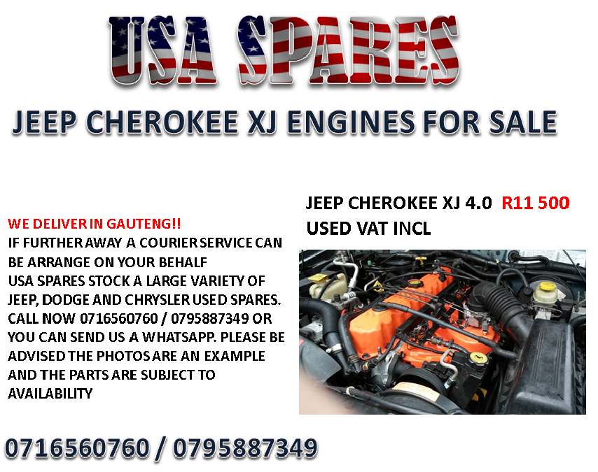 Jeep 4.0 Engine For Sale >> Jeep Cherokee Xj 4 0 Engines For Sale Junk Mail