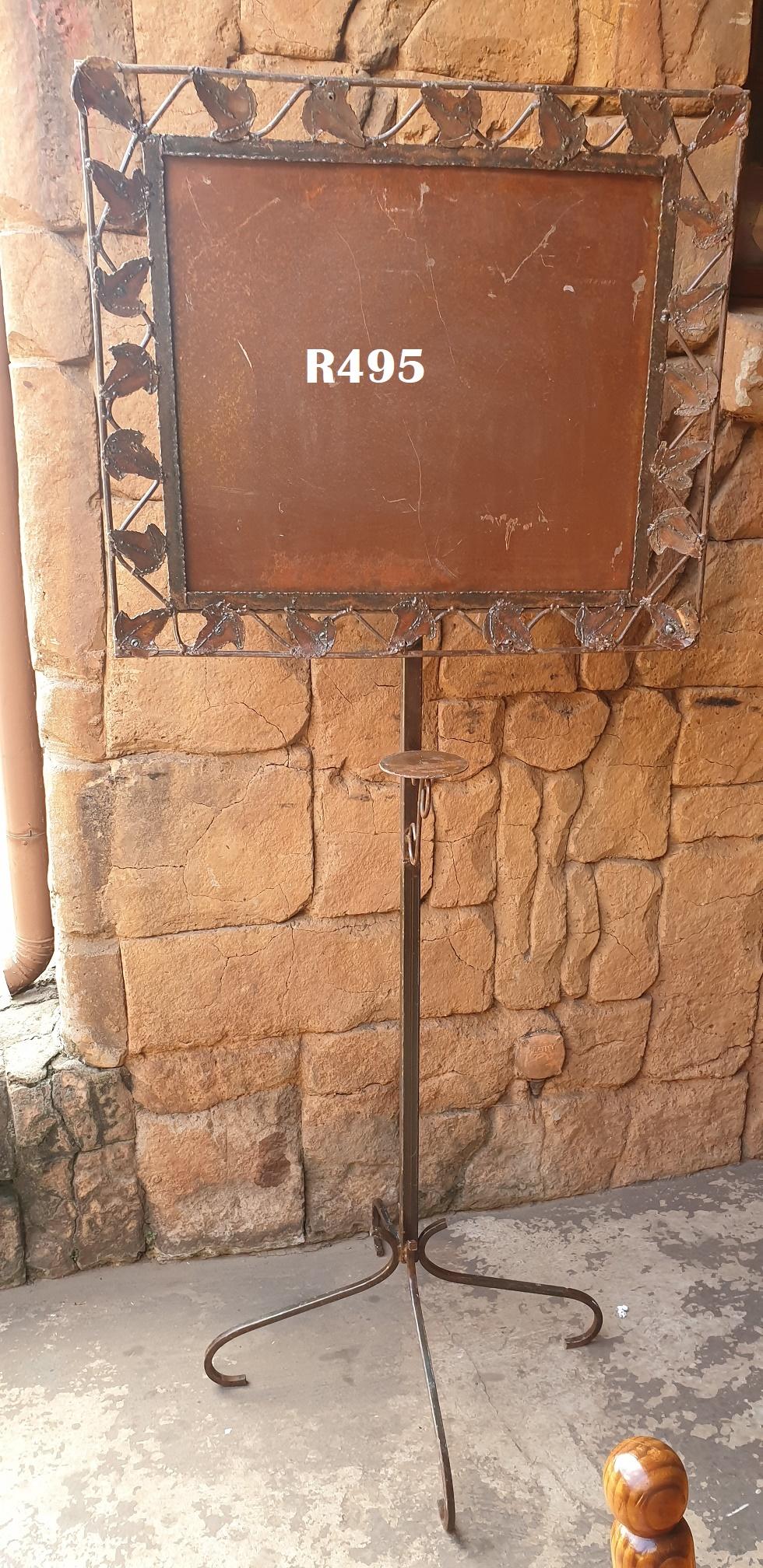 Steel Event Menu or Notice Board (730x625x1770)