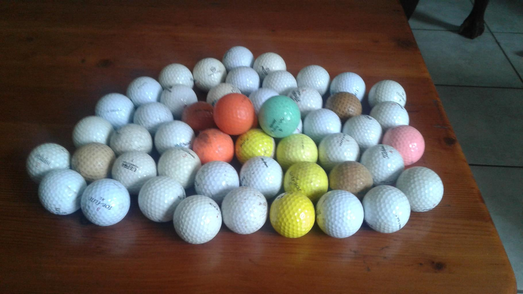 51 different practice gholf balls