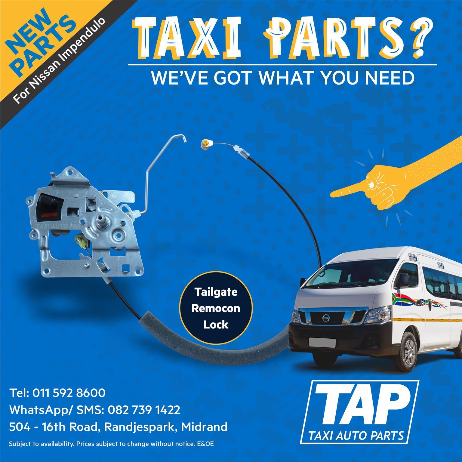 NEW Tailgate Remocon Lock for Nissan Impendulo - Taxi Auto Parts - TAP