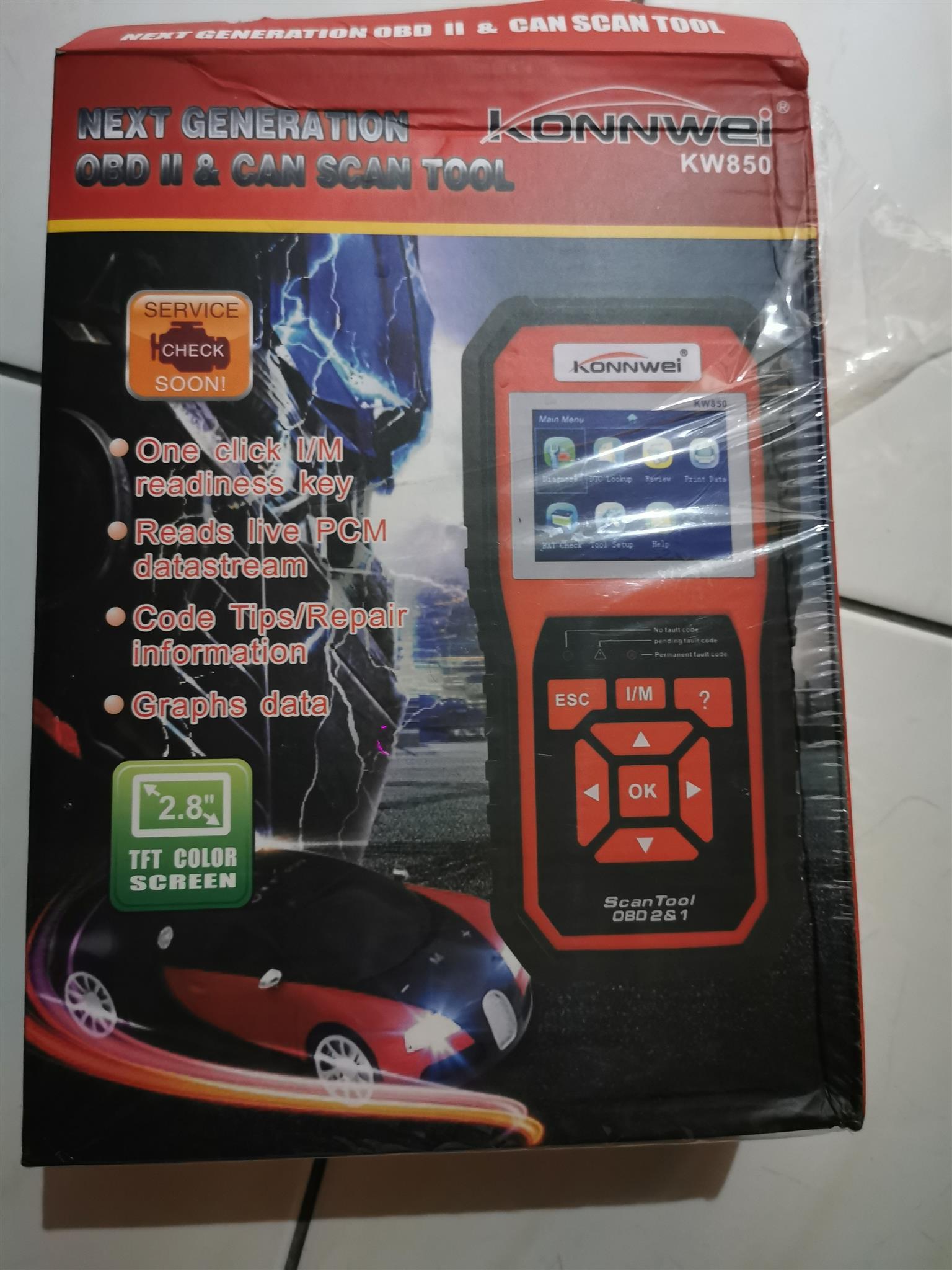 Konnwei obd vehicle diagnostic tools read faults