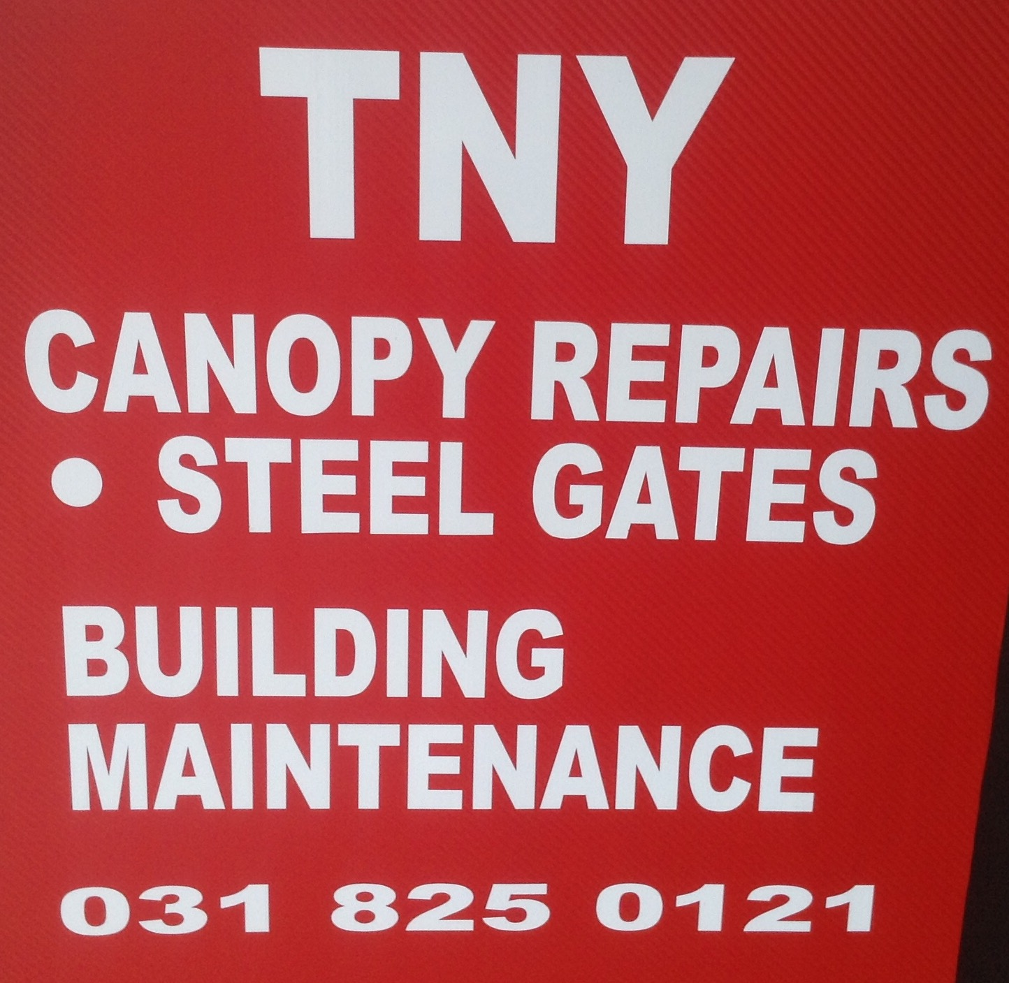 Repairs on all types of canopies.