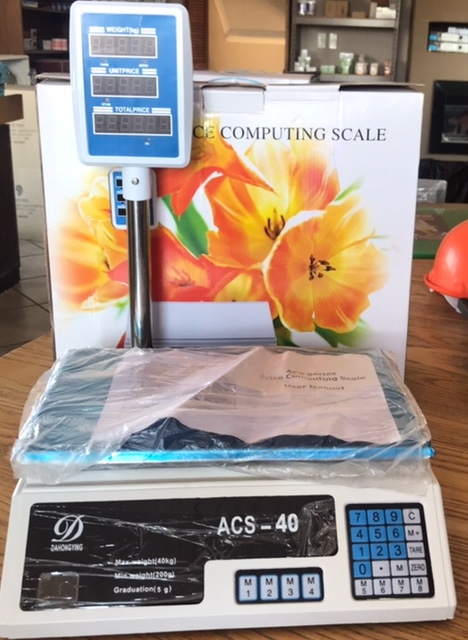 SCALES TABLETOP 40KG DIGITAL WITH ARM