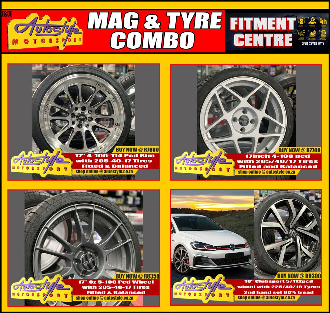 Mag and tyre combo brand new