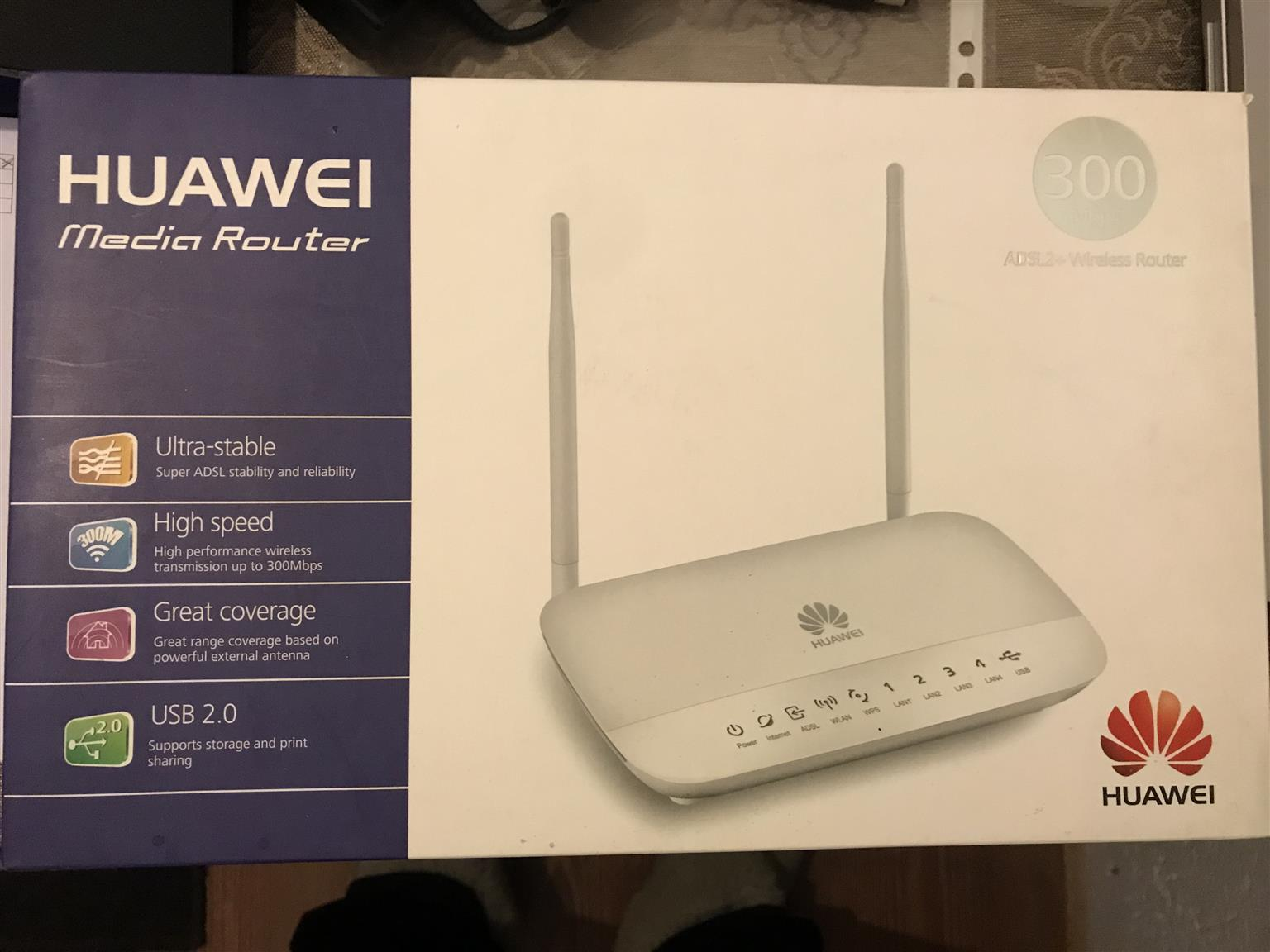 Huawei 300 MB Ultra-Stable High Speed ADSL Media Route