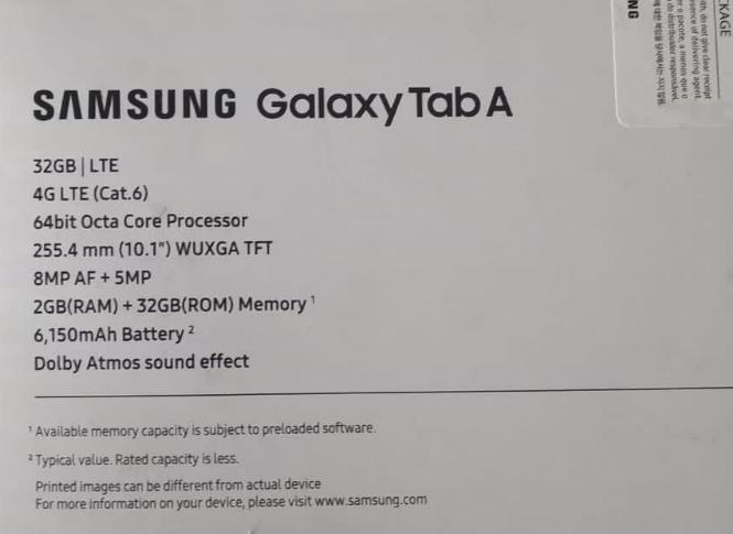 Galaxy Tab A 10,1''