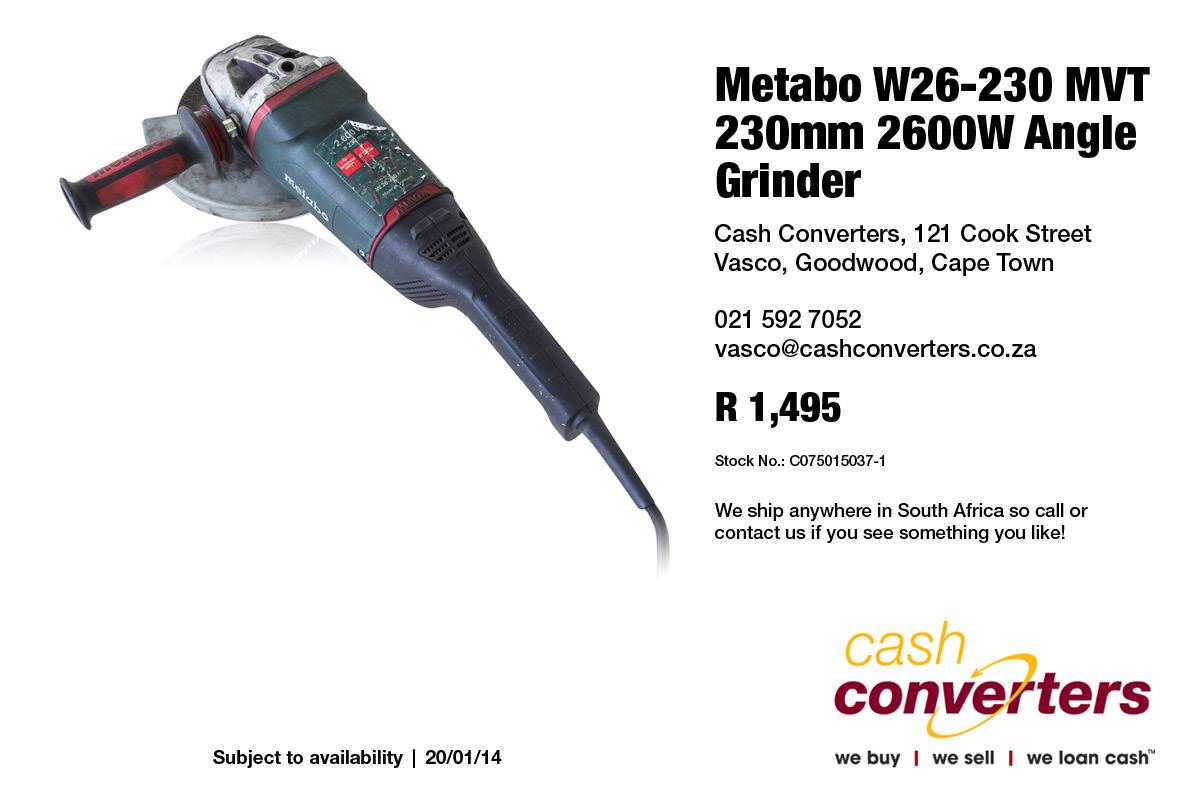Metabo W26-230 MVT 230mm 2600W Angle Grinder