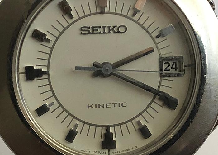 SEIKO KINETIC MEN WATCH, STAINLESS STEEL, 50 M WATERPROOF