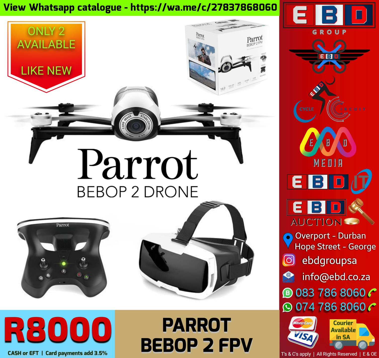 Parrot Bebop 2 FPV with Goggles