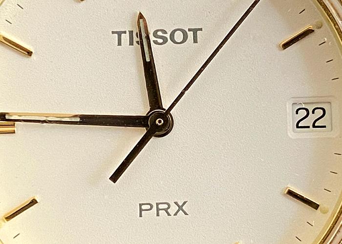 VINTAGE TISSOT PRX QUARTZ MEN WATCH, TWO TONE MODEL P 580 W, WITH DATE