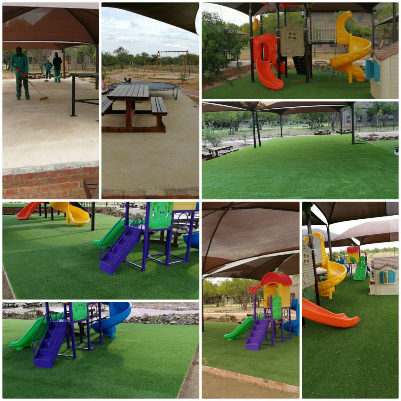Eco Grass /Artificial Turf, Modular Play Equipment, Outdoor Gym Equipment, Safety Rubber Surfacing