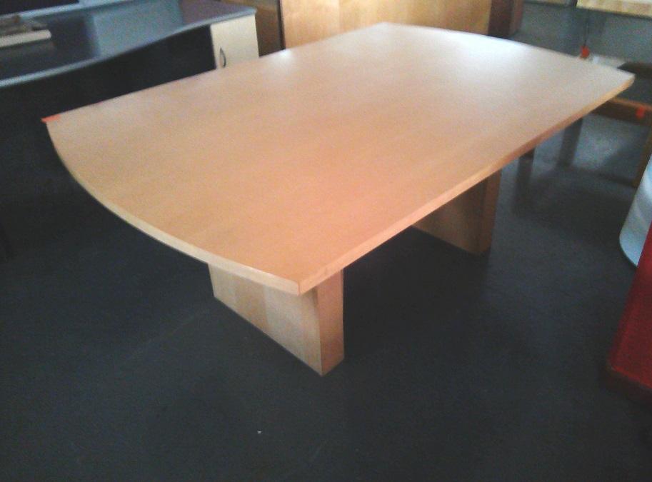 6 Seat maple veneer boardroom table