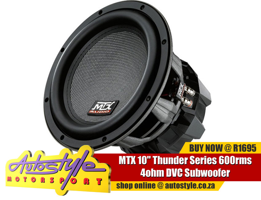 MTX 10 inch  Thunder Series 300rms 4ohm DVC Subwoofer