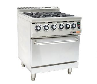 GAS STOVE WITH ELECTRIC OVEN ANVIL - 4 BURNER-COA4004